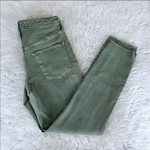 Mossimo Green High Rise Skinny Jegging Jeans 4